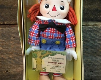 Vintage Raggedy Andy/Goes Sailing/Kakin Signature Collection/Original Box
