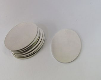 Oval Blanks - 20 gauge -1 x 1 1/2 - Tumbled Blanks  -Premium Blanks - Tumbled blanks - Necklace blanks - Stamping Supplies