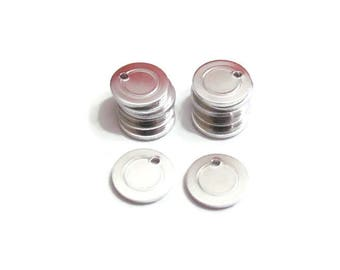 Circle Blanks//16G//12.7mm//Border blanks//blanks with hole//stamping blanks//stamping supplies//metal blanks//tumbled blanks