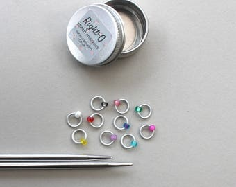 Stitch markers for knitting - MORRIS DANCER - notions, fabric & notions, knitting markers, stitch marker, knitting marker, knitting supplies