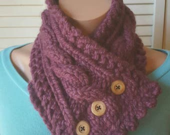 READY TO SHIP!!  Button Cowl