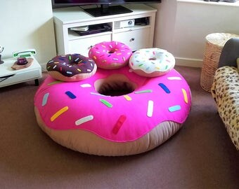 GIANT FLEECE DONUTS!! In Xtra Large and Large! Handmade in the U.K All colours considered - available unfilled