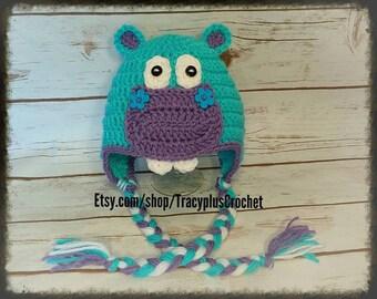 Hippo hat. Crochet Hippo hat. Hippo beanie. Crochet Hippo beanie.  Hippopotamus hat. Hippopotamus beanie.