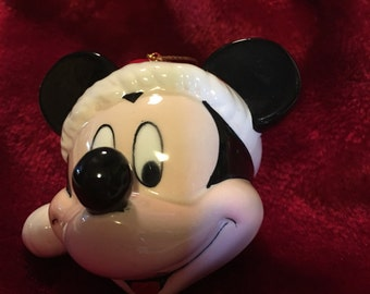 Ceramic Mickey Mouse Christmas Ornament