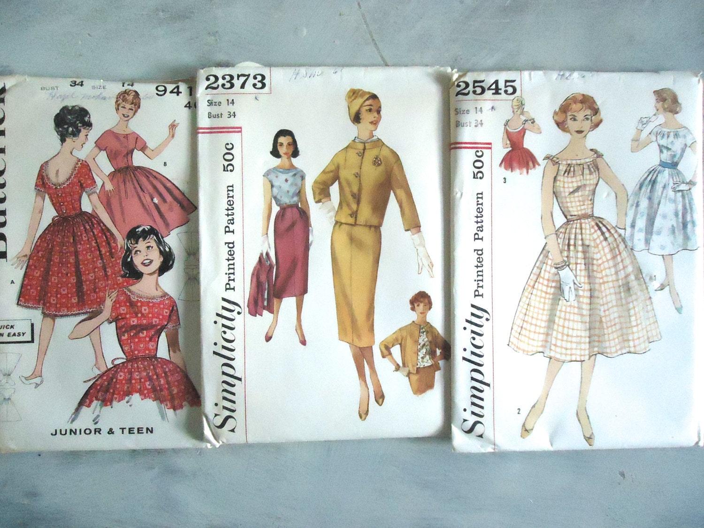 Costura Vintage patrones patrones de vestido papel patrones