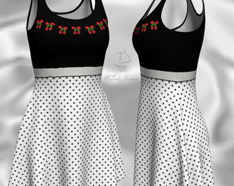 String Of Cherries Rockabilly Swing Dress