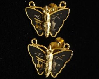Butterfly Earrings Vintage Amita Japan