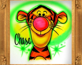 Cute Tiger Character airbrush t-shirt