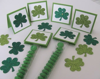 St Patrick's Day Party Favors, M&M Candy Bags With Shamrock Tags, Shamrock  Favors, St. Patrick's Day Treat Bags, St Patrick's Day Favors