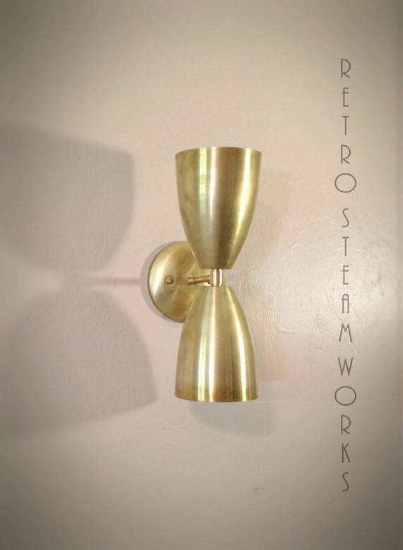Mid Century Modern Wall Mounted Lights : Modern Mid Century Wall Mount Light Raw Brass Loft Sconce Lamp