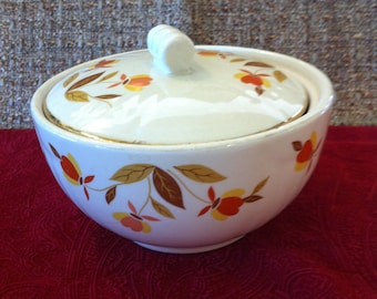 Hall's Autumn Leaf Radiance Drip Bowl With Lid