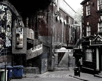 Street photography.  A city waking up.  Manchester.  A photographic print, 11 inches x 8 inches.