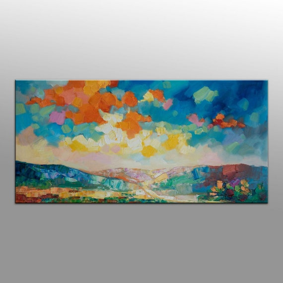 Abstract Art Large Abstract Painting Canvas Art by ...