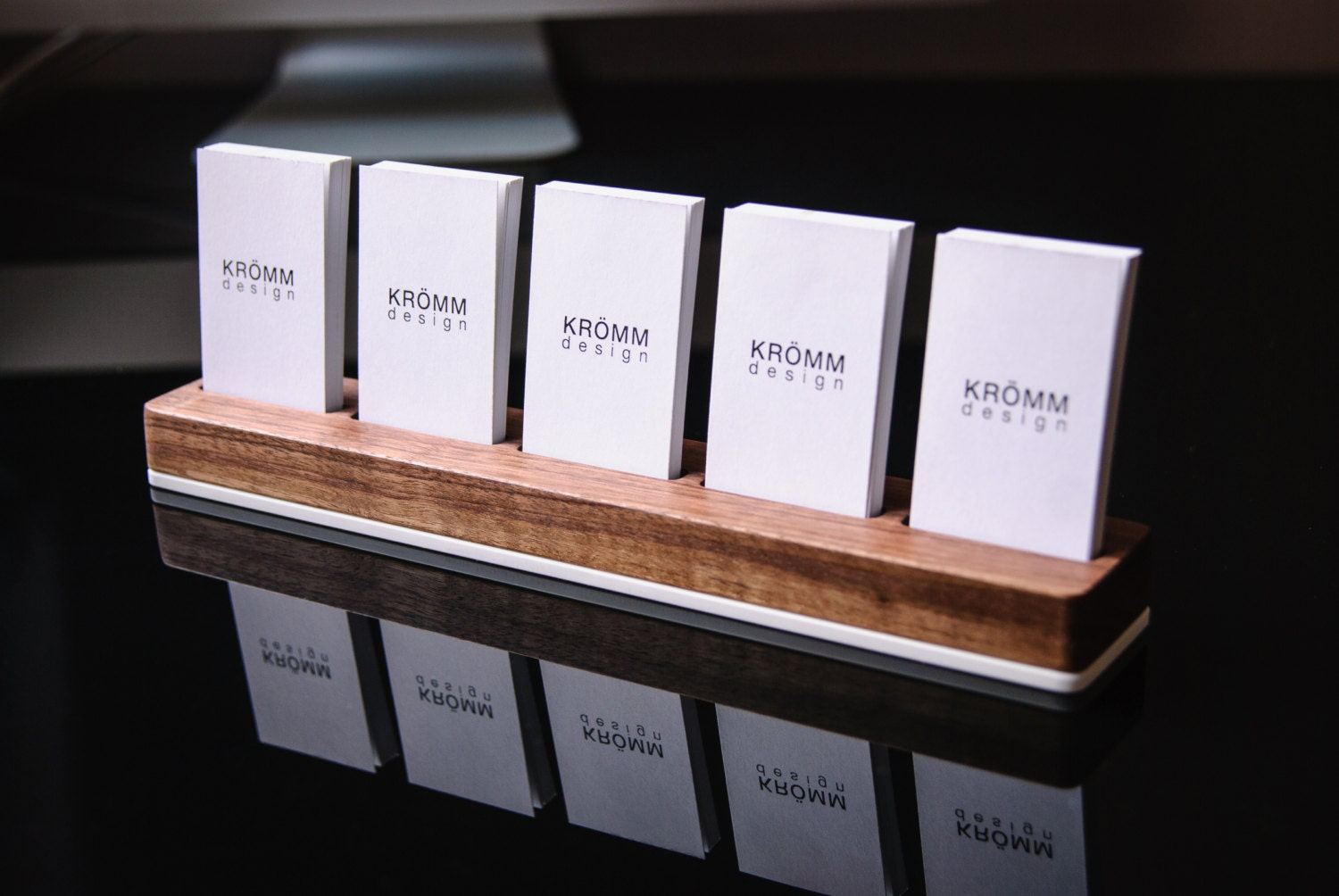 Business card holder business card stand business card for Business card display frame