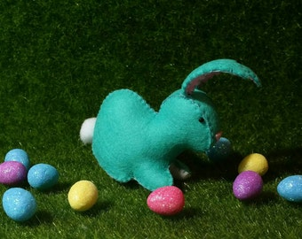 100% Wool Felt Kawaii Easter Bunny Rabbit