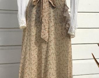 Ethereal prairie boho Gunnies maxi skirt.  Vintage size 11.