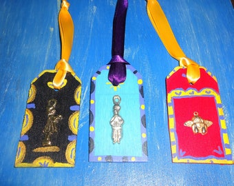 Milagro Folk Art Ornament Set of 3