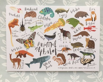 Animal Alphabet Card