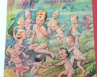 Water Babies Charles Kingley Hampster Publishing Mildred Entwistle Illustrator Reader 27  Children's Book