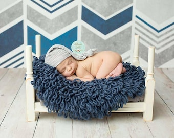 Newborn Baby Photography Prop Wooden Flipping Bed to Bench
