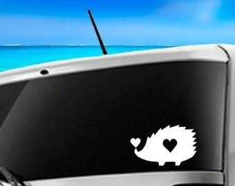 Hedgehog Car Decal, Laptop Decal, Vinyl Car Decal, Hedgehog Vinyl Decal