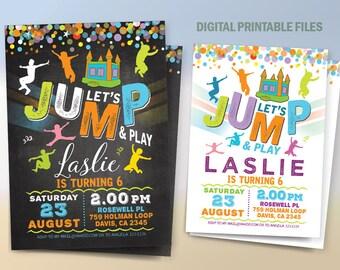 Jump Birthday Party, Jump Party Invitation, Bounce House Birthday invitation, Bounce House Party Invitation, Jump Party in Bounce House