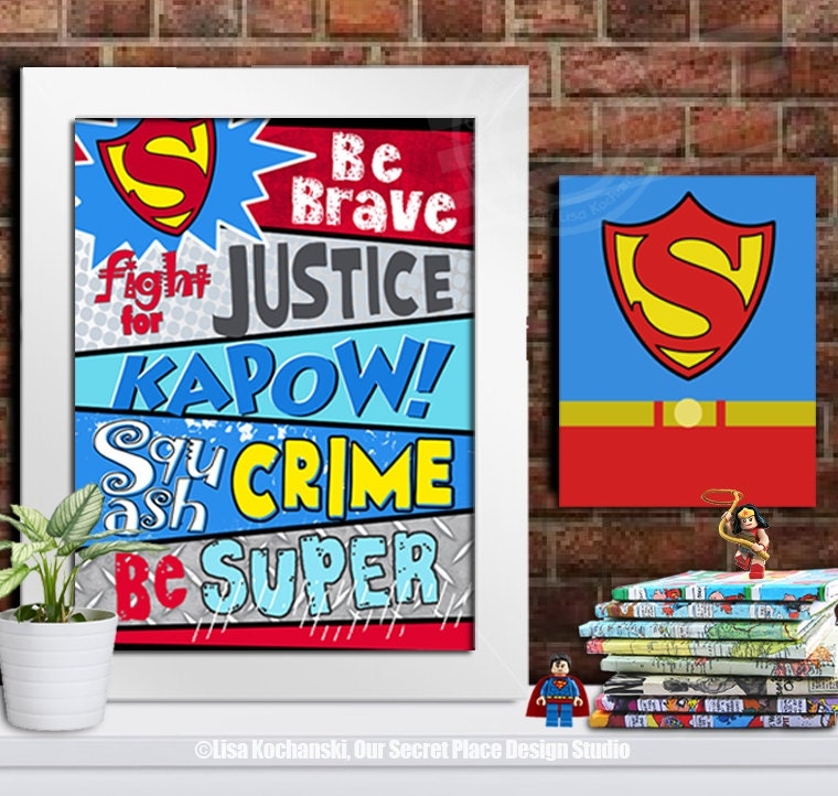 Superhero Wall Decor printable superhero wall decor superhero room decor for boys