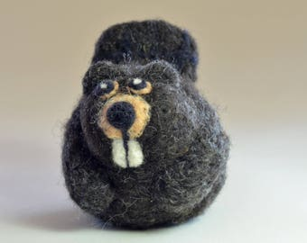 Beaver Christmas ornament, needle felted Christmas decoration, Beaver Ornament