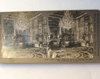 Stereo View Fontainebleau Royal French Palace Catherine de Medicis