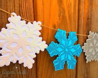 Snowflake banner, Winter wonderland banner, Winter decorations, Snowflakes, Winter wonderland decorations, Winter banner, Winter decor