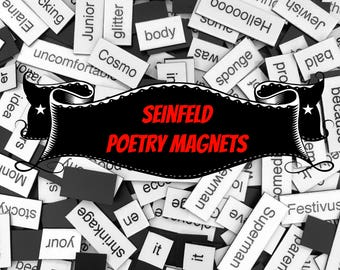 Seinfeld Refrigerator Magnets, Poetry Word Magnets, Free Gift Wrap