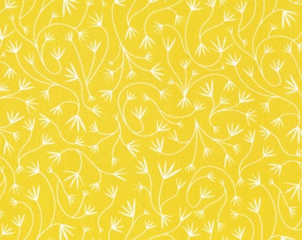 Gentle Vines in Dandelion by Elizabeth Olwen from the Grey Abbey collection for Cloud 9 Fabrics
