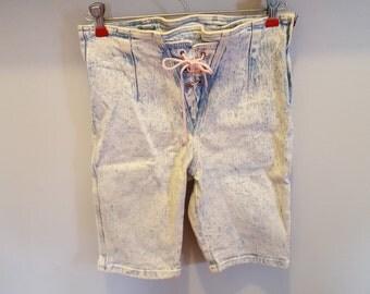 1980's Vintage Acid Washed High Waist Shorts