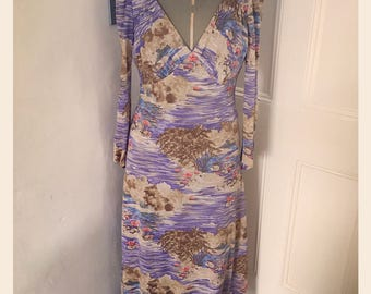 Reduced *1970's Betty Barclay Maxi Dress - Size 10