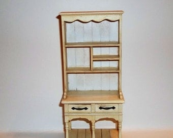 Dollhouse Miniature Farmhouse Kitchen Cabinet Cupboard Hutch