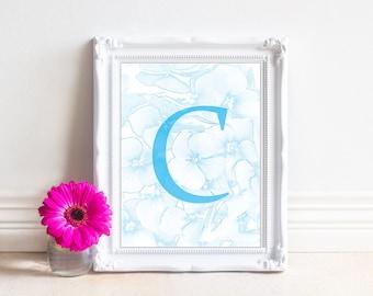 Alphabet Letters Printable, Letter C, Printable Monogram, Monogram Letters,Digital Letters, Digital Initial, INSTANT DOWNLOAD Printable Art