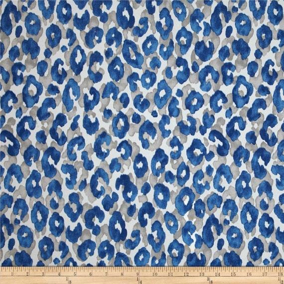 P Kaufmann Snow Leopard Cornflower Indoor Outdoor Blue