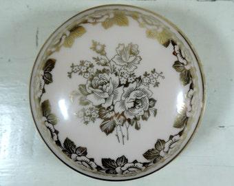 French Vintage Trinket Box/ French Vintage Limoges Porcelain Trinket Box/Vintage Trinket Box/Limoges Porcelain Trinket Box/Porcelain Box