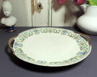 Vintage Limoges Platter/ Vintage Limoges Platter/French Vintage Platter/Porcelain Platter/Serving Platter/Vintage Round Platter With Handles
