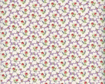 Fabric Freedom 'Reduced Price' F899-4 English Teatime Rosebud Patchwork Quilting