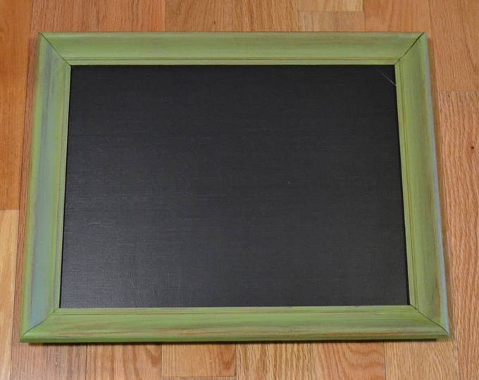 "Chalkboard Blackboard Message Board Upcycled Wood Frame Green 18"" x 14""  PanchosPorch"
