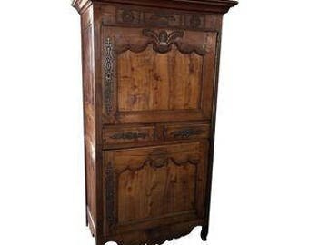 Antique 18th Century Fruitwood Bonnetiere