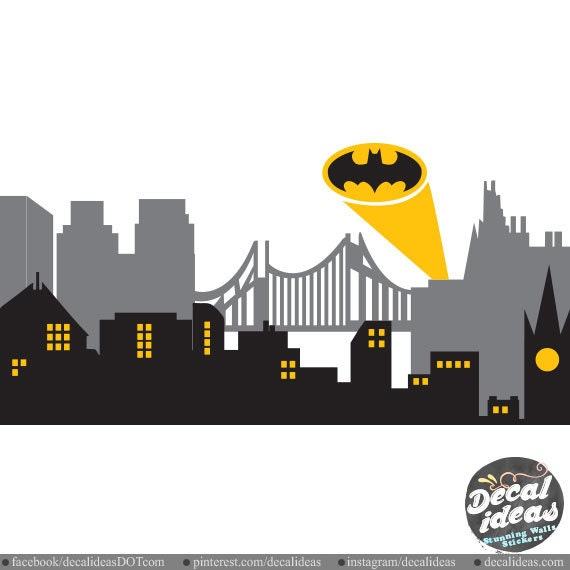 gotham city wall decal