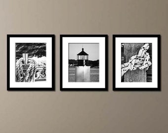 Nautical Home Decor, sailing ropes, lighthouse, new england, salem, ma, massachusetts, sailing print, sailing decor, nautical art