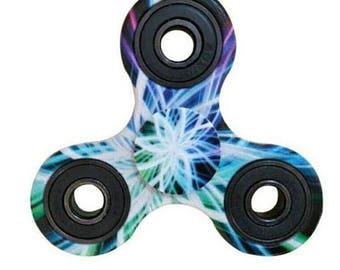 Fidget Spinner Aurora Pattern Hand Spinner Finger Toy ADHD Stress Reliever #01