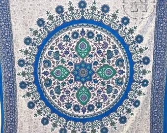 Mandala Tapestry Beach Blanket Boho Curtain Wall Hanging Hippie Dorm Gypsy Wedding Backdrop  Birthday Bridesmaid Gift Festival Blue Purple