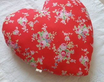 Heart fabric.
