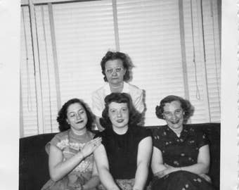 Vintage Photo..Not Everyone Was Smiling, 1950's Original Found Photo, Vernacular Photography