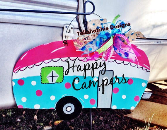 Camper Signs Happy Campers Door Hanger Sign Free