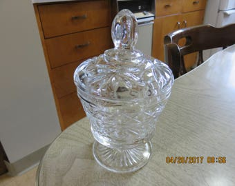 Cut Glass Candy/ Jelly Jar with Lid